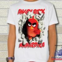 Kaos Angry Birds RED 3D Ukuran S ( 7-12 Th )