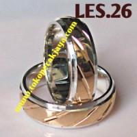 Cincin Kawin Perak Sepuh Emas LES.26