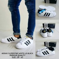Harga sepatu adidas superstar black lis white grade premium keren murah | Pembandingharga.com