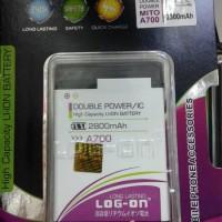 Baterai Battery Batre Logon Double Power Mito A700
