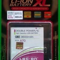 Baterai Battery Batre Logon Double Power Ba-00050 Mito A70
