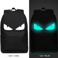 BP438 tas ransel / backpack korea best quality glow in the dark