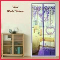 Tirai Magnet / Tirai Nyamuk Motif love / Premium ( sos )