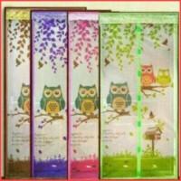 Tirai Magnet / Tirai Nyamuk Magnet Motif OWL / Premium ( sos )