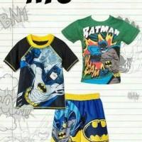 Jual Stelan pendek Batman 2 kaos dan celana Momscare impor Murah