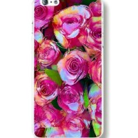 HARD CASE BIG PINK ROSE PRINT FOR IPHONE 5 5S