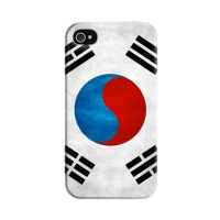 Casing HP Bendera Korea iPhone 4/4s/5/5s/6 Custom Case Flag Handphone