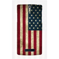 Casing HP Bendera Amerika Oppo R3/Find 5 Custom Case Flag Handphone