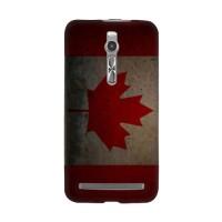 Casing HP Bendera Kanada Asus Zenfone 2/5/6 Custom Case Flag Handphon