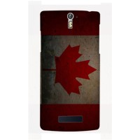 Casing HP Bendera Kanada Oppo R3/Find 5 Custom Case Flag Handphone
