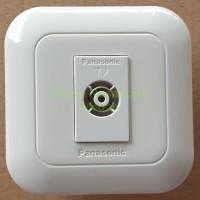 IB Outlet ANTENA TV PANASONIC PUTIH / White Colokan Stop Anten Tanam