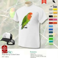 harga kaos kicau mania/tshirt/kaos LOVEBIRD/Kaos burung Tokopedia.com