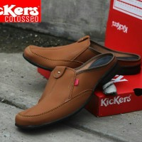 Sepatu Sandal Pria + Kickers Bustong Colosseo Coklat Murah Meriah
