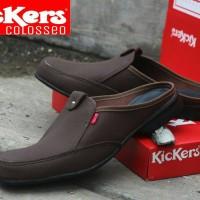 Sepatu Sandal Pria + Kickers Bustong Colosseo Tan Murah Meriah