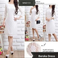 harga Dress Putih Brukat Cantik Win Full Puring Tokopedia.com