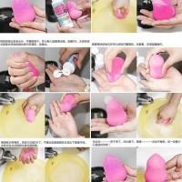 Beauty Blender Sponge pembersih wajah komedo make up travel organizer