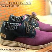 SEPATU PRODIGO AMBARAWA MAROON BLACK | PRODIGO FOOTWEAR |100% ORIGINAL