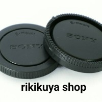 body cap & lens rear cap e mount (sony nex, sony alpha)