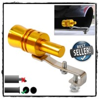 Gold Exhaust Fake Turbo Whistler Pipe Sound Muffler Size M 1.6 - 2.0