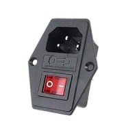 AC 10A 250V Inlet Module Plug Fuse Switch Male Power Socket 3 Pin AM96