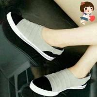harga SNEAKER GREY STRAPE | Sepatu Sneaker | Sneaker Abu Tokopedia.com