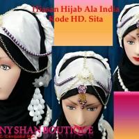 Hiasan Hijab Ala India Kode sita