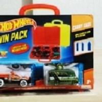 Jual Kotak koper HotWheels twin pack carry case ( Inc 3 pcs car ) Murah