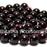 Batu Red 9mm Garnet / Bahan Gelang Kalung Handmade Aksesoris Grosir