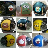 Helm Retro Bogo Domo Minion Hello Kitty Baby Millo dll