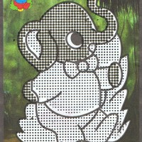DIY Anak Gambar Air Water Color Picture dan Mewarnai Gajah DW-009