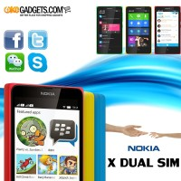 HANDPHONE NOKIA X DUAL SIM DUAL CORE 1 GHz + KAMERA 3 MP