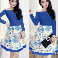 nikita dress blue bhn jersey serena print L+