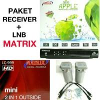 Receiver Parabola MATRIX APPLE MPEG2 + LNB 2 IN 1 HD