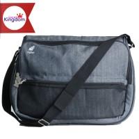 Pulcher BALEY Grey / Tas Selempang / Messanger Laptop Kantor / Sekolah
