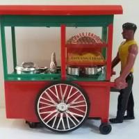 mainan anak tukang bakso pajangan gerobak miniatur