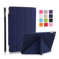 Jual iPad 2 / 3 / 4 Navy Smart V Transformer Cover Case | Casing Biru Murah