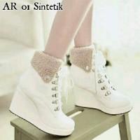 Sepatu Boots Wanita Syntetic