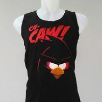 kaos singlet pria dewasa gym / fitnes motif angry bird
