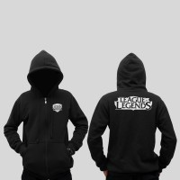 Hoodie Zipper League Of Legend - Hitam - Zemba Clothing