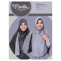 Jual Original Jilbab Bolak Balik Pricilla 2 in 1 Instan (hijab, khimar) Murah