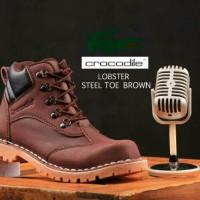 Jual crocodile boots safety tan, sepatu boot pria, sepatu boots murah Murah