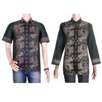 baju pasangan atau baju couple batik blus lengan panjang SBR02 hijau