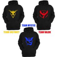 Jual jaket hoodie pokemon tanpa resleting valor / instinct / mystic Murah