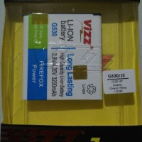 Vizz Samsung Galaxy J5 3200mAh Battery Baterai Double Power J500G J500