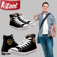 Sepatu K Zoot Panjang Hitam Putih | Sepatu Sekolah Remaja SMP SMA SMK