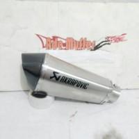 Knalpot Akrapovic Titan Short Grafir Logo Slip On