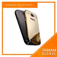 Hardcase Case Mirror Samsung Galaxy Note 2 Alumunium Bumper Backcase