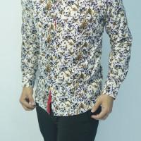 harga Baju Batik Kemeja Pria Slim Fit Cb249 (fashion Pria Slimfit Jas Kaos Tokopedia.com