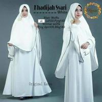 Khadizah syari white vg / Baju syari / Gamis / Londress / Jilbab putih
