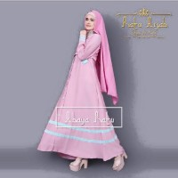 Abaya ratu pink ml / Gamis pink / Dress model simple / Jilbab / Hijab